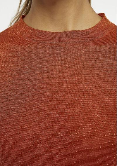 Jersey efecto brillo marrón -  Compañía Fantástica