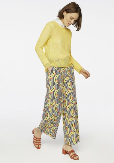 Yellow open knit jumper -  Compañía Fantástica