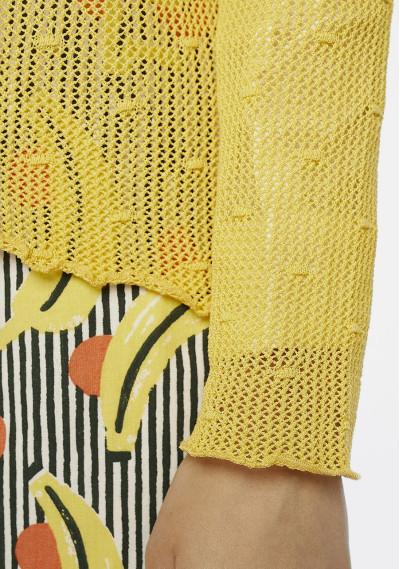 Maglia con maglie aperte gialla -  Compañía Fantástica