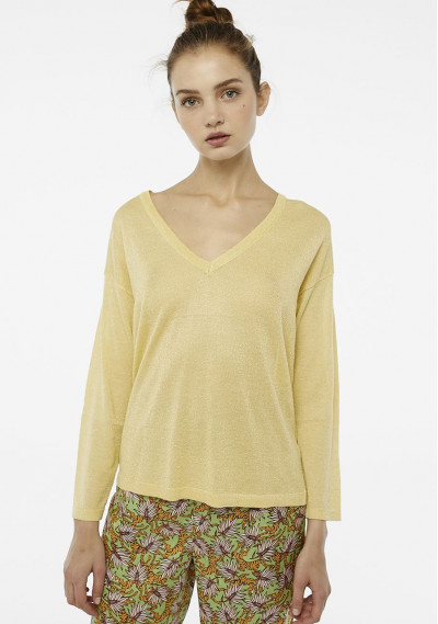 Yellow sparkle knit jumper