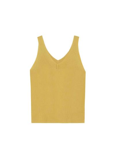 Top punto elástico amarillo -  Compañía Fantástica