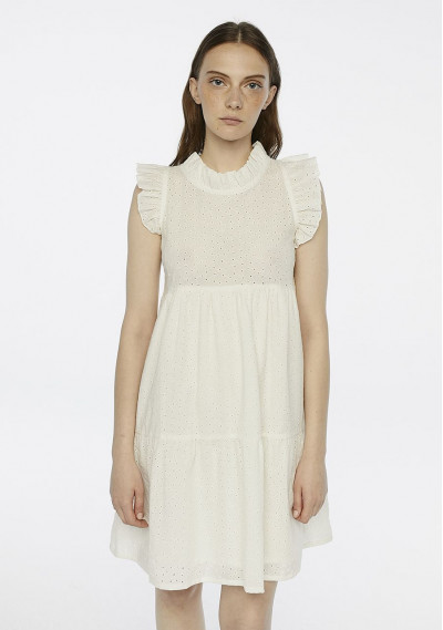 Embroidered white dress...