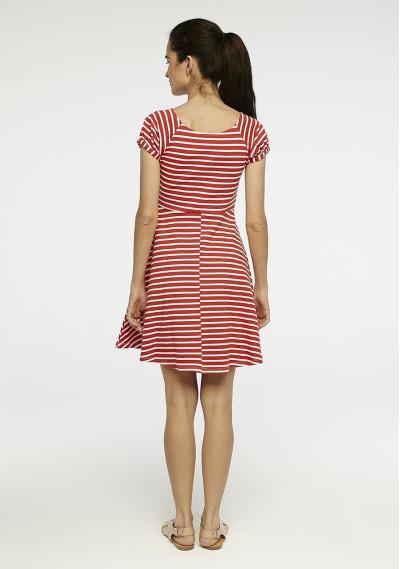 Red striped mini dress -  Compañía Fantástica
