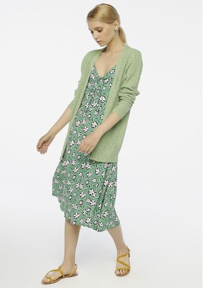 Green floral midi dress -  Compañía Fantástica