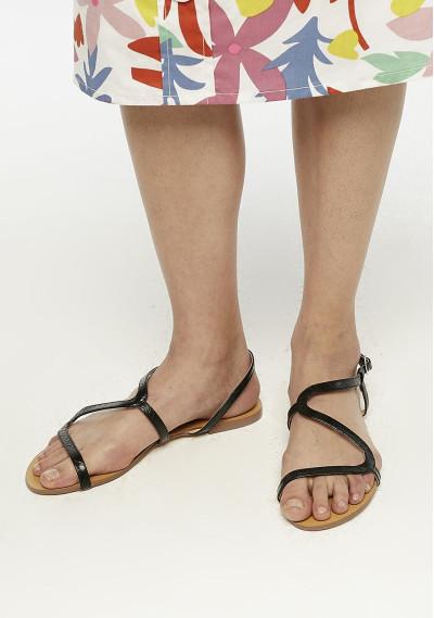 Black strappy sandals -  Compañía Fantástica