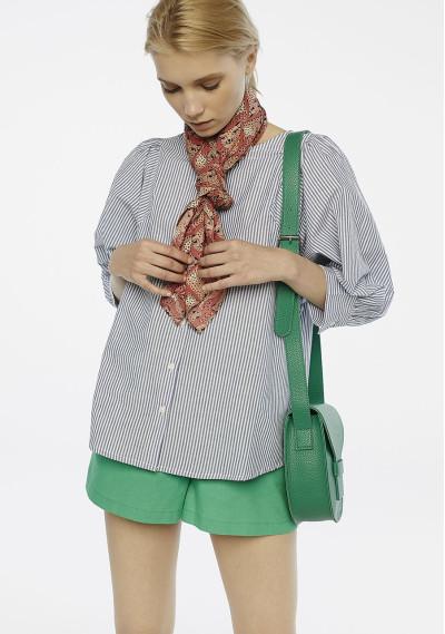 Blue striped sleeved blouse -  Compañía Fantástica