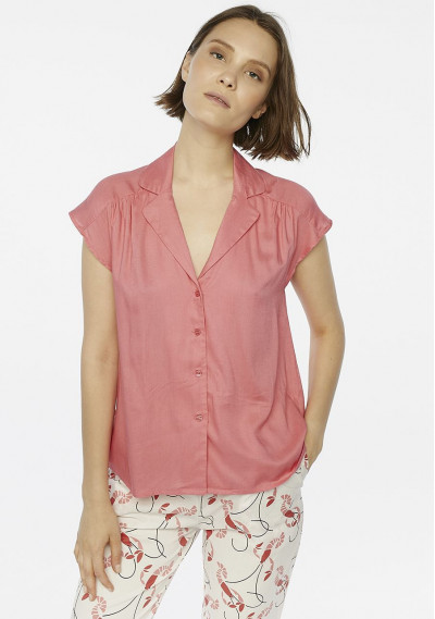 Camisa estilo pijama rosa