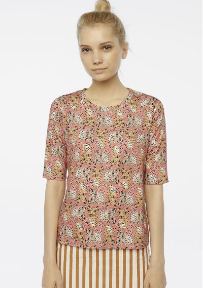 Leopard print brown t-shirt