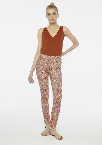 Leopard print brown leggings -  Compañía Fantástica