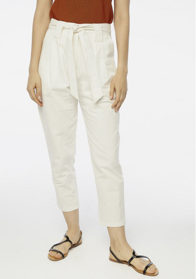 White paperbag trousers...