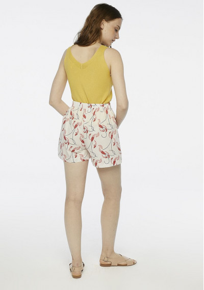 White lobster print shorts -  Compañía Fantástica