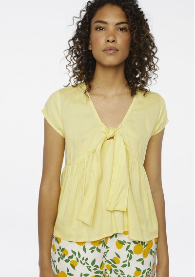Yellow smock top with bow