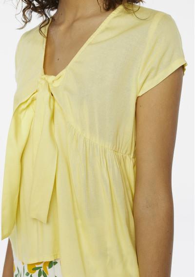 Yellow smock top with bow -  Compañía Fantástica