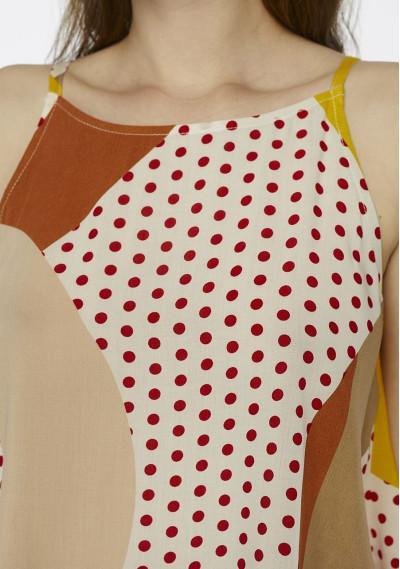 Geometric polka-dot strappy top -  Compañía Fantástica