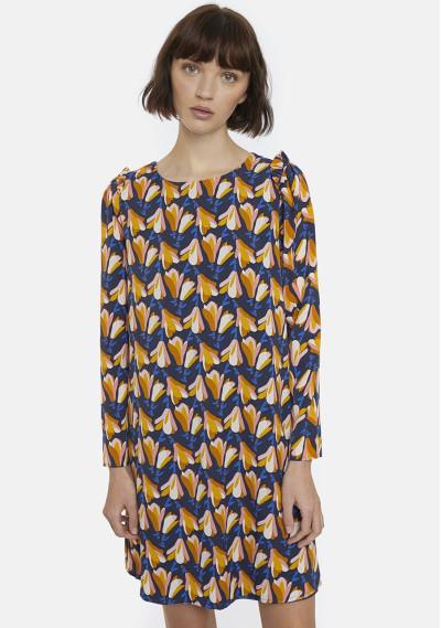 Magnolias print smock dress