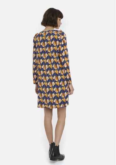 Magnolias print smock dress -  Compañía Fantástica