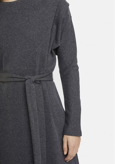 Grey shift dress with bow belt -  Compañía Fantástica