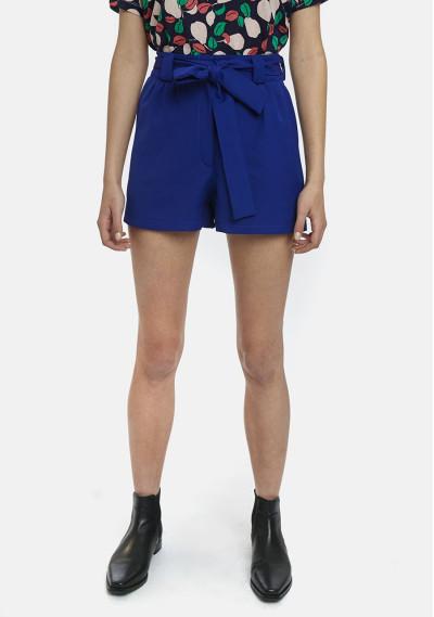 Shorts azules lazo bolsillos