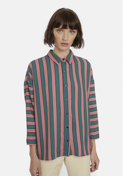Pink and green striped...
