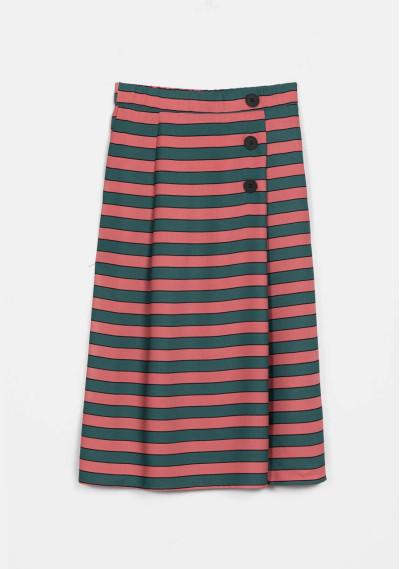 Falda recta rayas rosas y verdes -  Compañía Fantástica