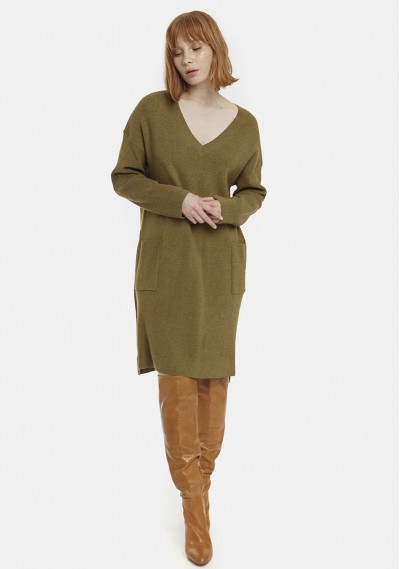 Shift dress with pockets in...