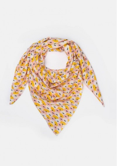 Small water-lily print scarf
