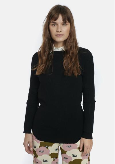 Maglione nero con maniche...