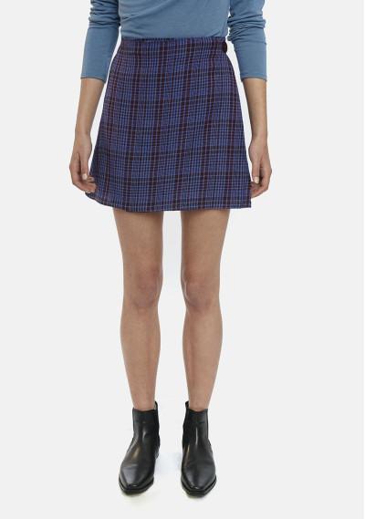Mini skirt in blue tartan...