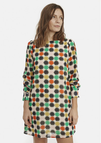 Smock dress with...