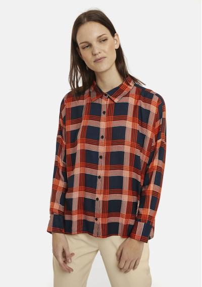Orange check flannel...