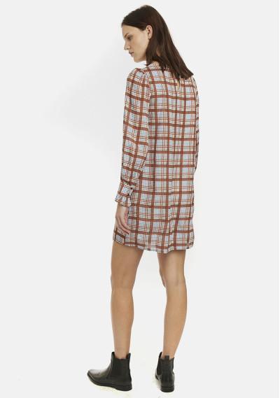 Brown tartan smock dress -  Compañía Fantástica