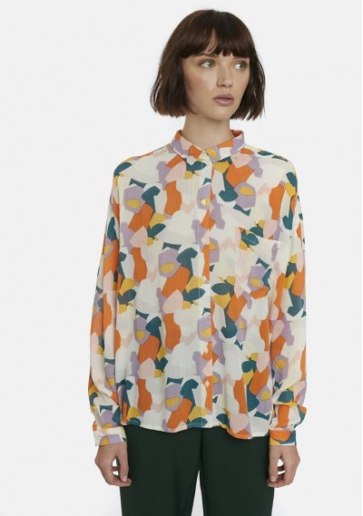 White oversize shirt with...