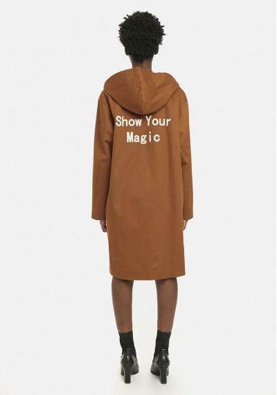 Brown 'Show Your Magic' hooded parka