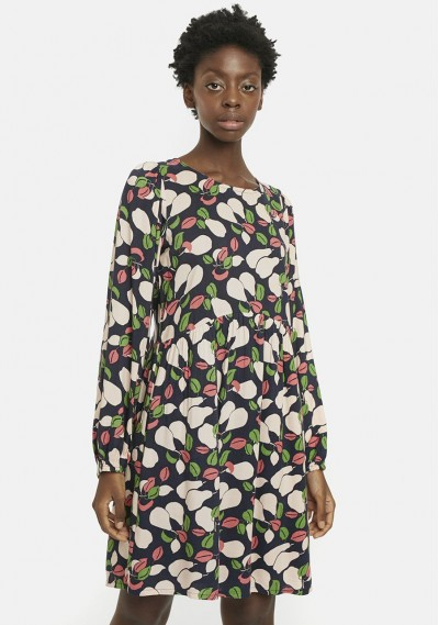 Pear print babydoll dress