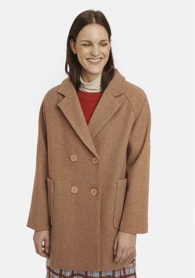 Beige double-breasted coat...