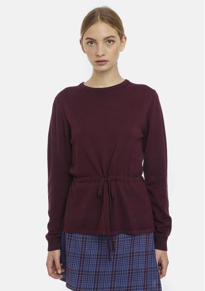 Purple fine-knit jumper...