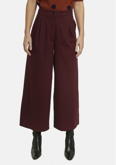 Purple flared trousers with...