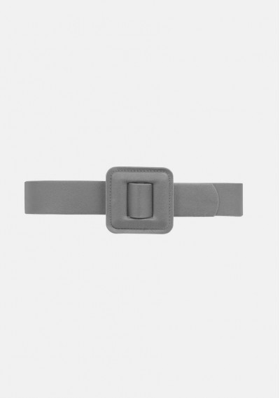Wide belt with square...