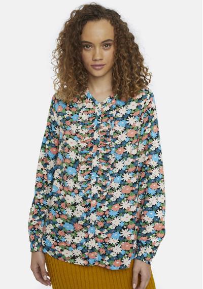 Blusa estampado paisaje floral