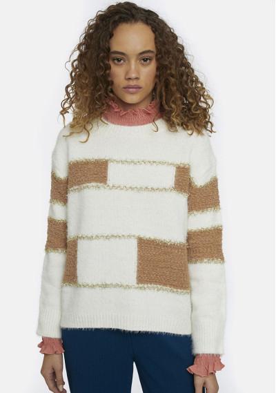 Geometric shape knit jumper...