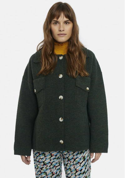 Green structured knit...