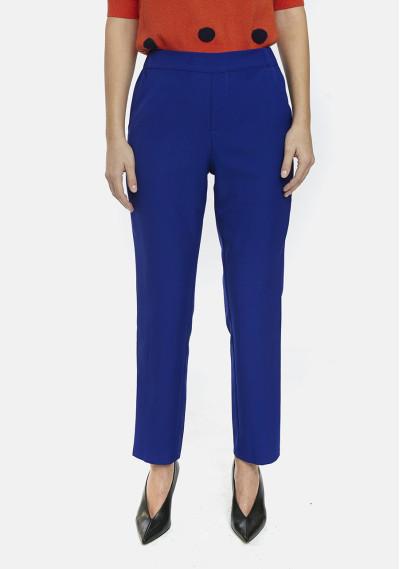 Pantalón tobillero recto azul