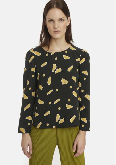 Yellow geometric shapes top