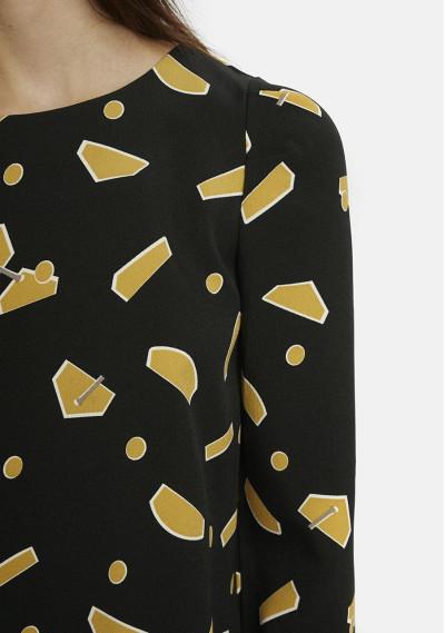 Yellow geometric shapes top -  Compañía Fantástica