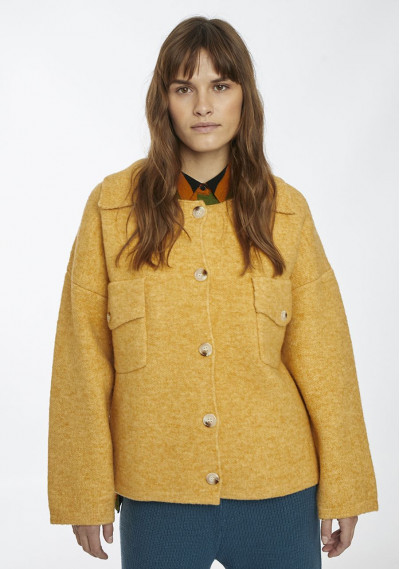 Yellow structured knit...