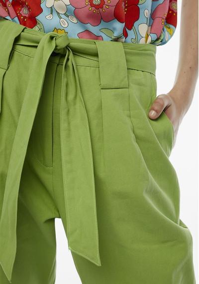 Pantaloni pence verdi con cintura -  Compañía Fantástica