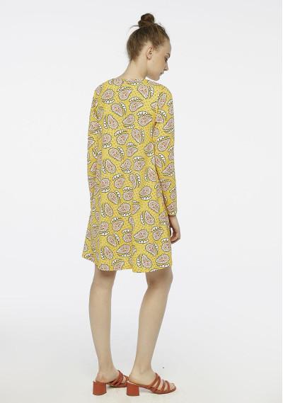 Vestido evasé paisley amarillo -  Compañía Fantástica