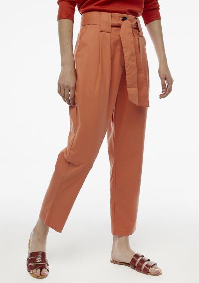 Pantalón pinzas naranja...