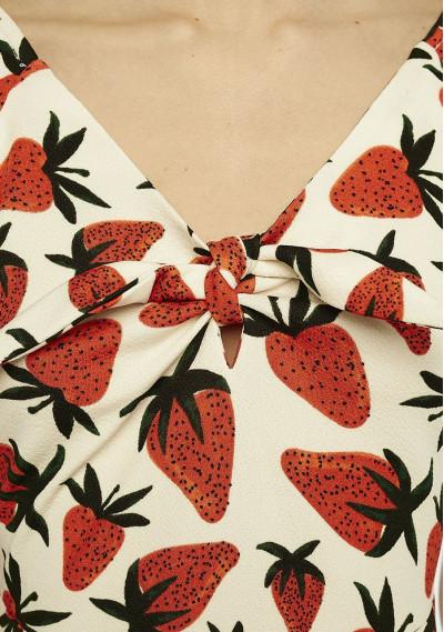 Strawberry mini dress -  Compañía Fantástica