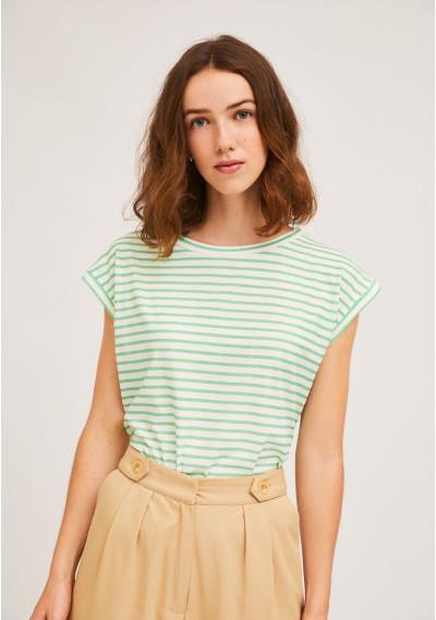 Green sleeveless cotton...